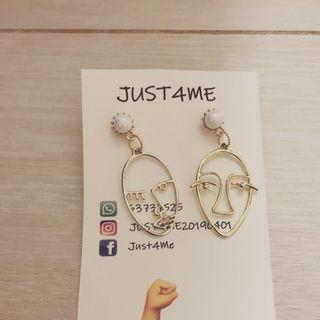 韓風畢加思索耳環
