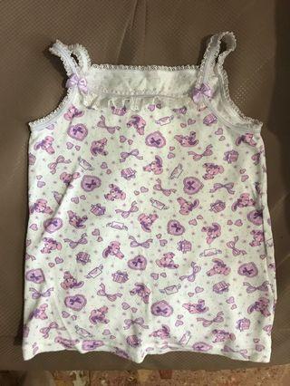 全新 女童 sanrio 底衫 內衣 吊帶底衫 一件 購自日本 120cm
