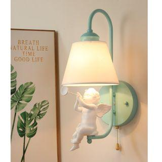 Elegant Baby Angel Wall Lamp, 小天使奏喇叭壁燈