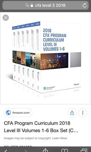 cfa level 3 2018 原版书