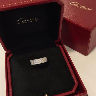 Cartier Love Wedding Band White Gold Diamond-Paved卡地亞戒指