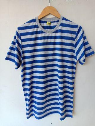 Kaos Stripe Navy Grey