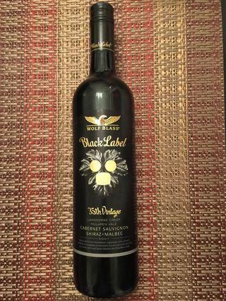 Wolf Blass-Black Label 2007 (Shiraz - Cabernet Sauvignon) 750ml