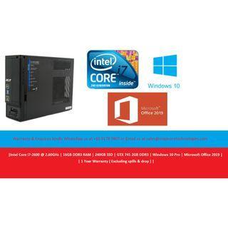[Refurbished] Acer X Dell Alienware SFF Desktop | Intel Core i7-2700 @ 3.60GHz | 16GB DDR3 RAM | 240GB SSD | Nvidia GTX 740 2GB DDR3 | Windows 10 Pro | Microsoft Office 2019 | 12 Months Warranty |
