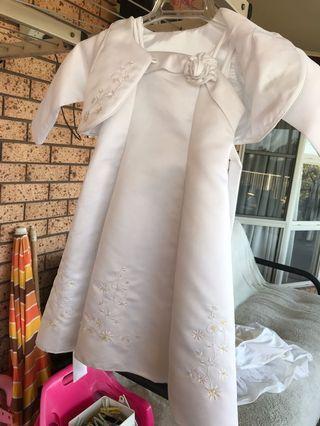 Satin flower girl dress size 2