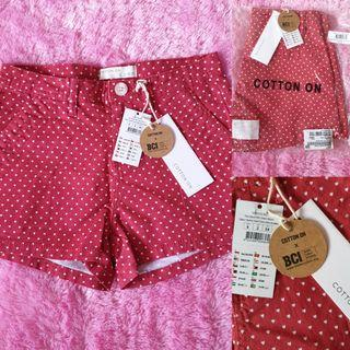 (New) Cotton On Chino Short Pants Red