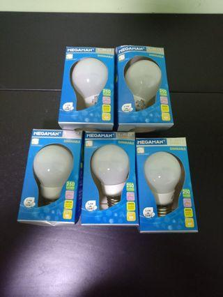 🆕Megaman Dimmerable LED Bulbs (×5)