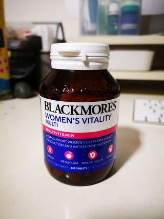 Unopened Blackmores Women's Vitality Multivitamins (100 tablets) exp in Aug this year