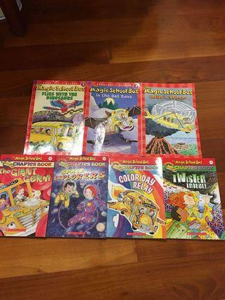 Magic School Bus (4 chapter books and 3 Scholastic Readers)