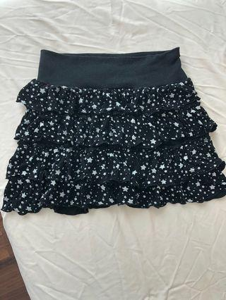 Starry Ruffle Mini Skirt