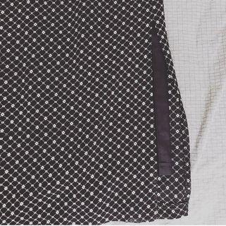 🚚 古著 媽媽的衣櫃 黑色幾何圖騰復古長裙 高個女孩請進#半價衣服拍賣會