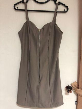 Mini dress stone grey