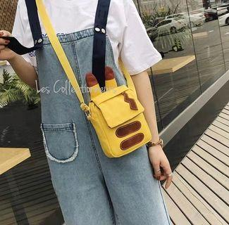 Pikachu Canvas Sling Bag Cute Adorable Bags for girls