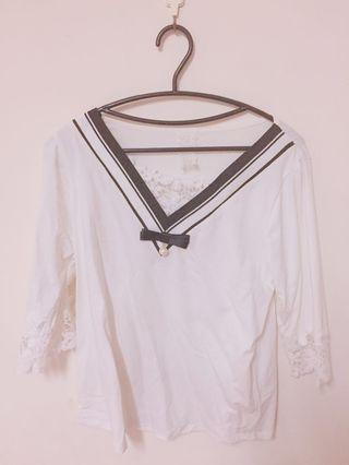 降價出清👏極新 七分袖白色上衣 #半價衣服拍賣會