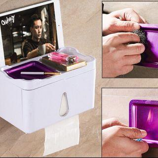 家居浴室防水三合一紙巾盒可放電話煙灰缸(帶煙灰缸) 🎏$78/ pc, $152/ 2pcs