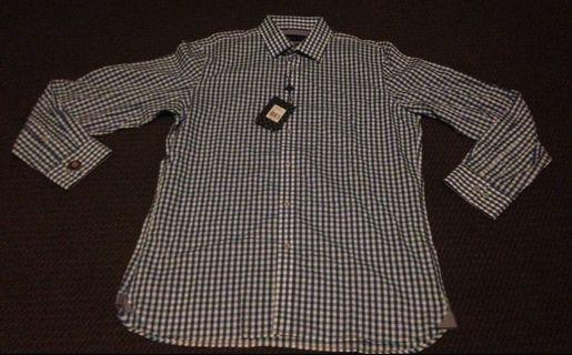 Men's bright gingham shirt