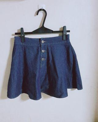 🚚 傘擺牛仔藍短裙
