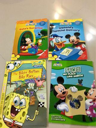Mickey / sponge bob children book