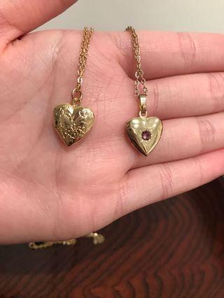 Locket necklaces (2)