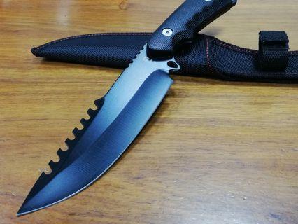 XTB 高硬度精鋼雙刃戶外戰術求生刀,露營刀,軍刀,直刀。