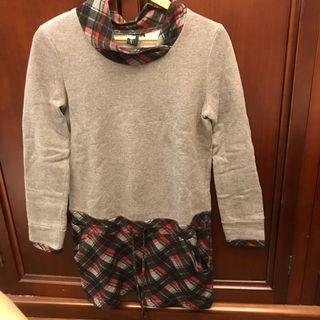 🚚 Beartwo 灰色格子拼接洋裝 #半價衣服拍賣會
