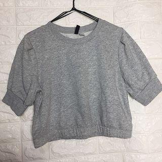 H&M • Gray Cropped Sweater Shirt