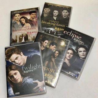 行貨The Twilight saga吸血新世紀第一至四集DVD!