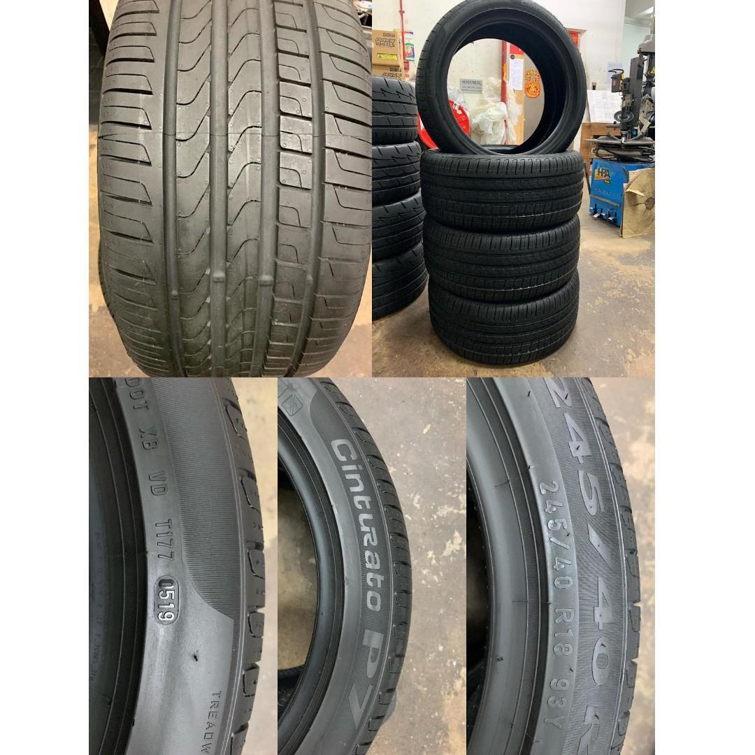 "18"" Pirelli Cinturato tyres"