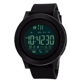 Skmei 智能手錶卡路里計步器多功能遠程攝像頭50M防水數字手錶 SKMEI 1255 Men Smart Watch Calorie Pedometer Multi-Functions Remote Camera 50M Waterproof Digital Watch (Full Black)