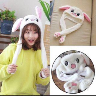 🚚 (Ready Stock)Cute tiktok Bunny Dancing Ear/Rabbit with moving Ear🐰Hat