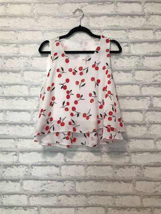 Cherry Sleeveless Top