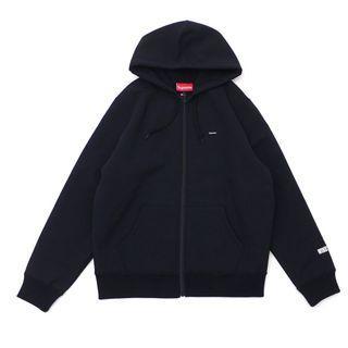 Supreme FW18 windstopper zip up hooded sweatshirt black