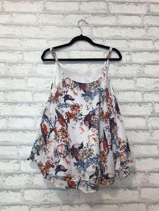 Flowers Sleeveless Top
