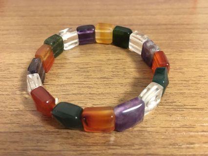 彩色天然水晶手串