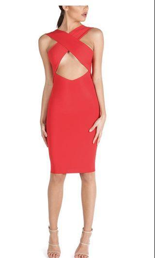 Zachary Red Bodycon Dress