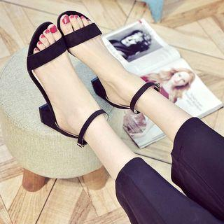 Strapped Black Heels / Chunky Heels / Strappy Heels / 2 Inch Black Heels / High Heels / Shoes / Woman's Shoe / Comfortable Heels /  Hook on Strappy Heels Black Suede Ankle Strap Heeled Sandals / Easy Hook on Strappy Heels