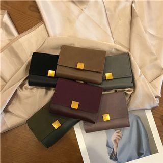 B184🌸6色*簡約韓系復古三折短夾皮夾