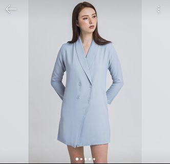 Long blue blazer for rent