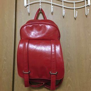 🚚 復古紅色肩背小包