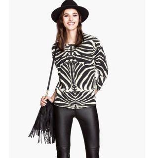 H&M Zebra Print Sweatshirt