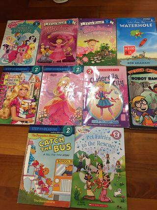 Step 1 and 2 Story Books (10 books)