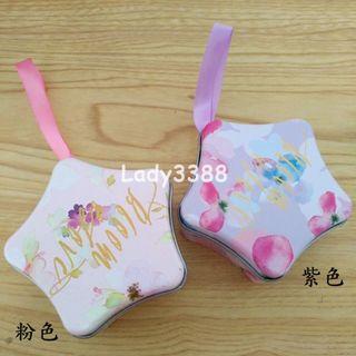 🚚 夢幻水彩星星馬口鐵喜糖盒 兩款 W172