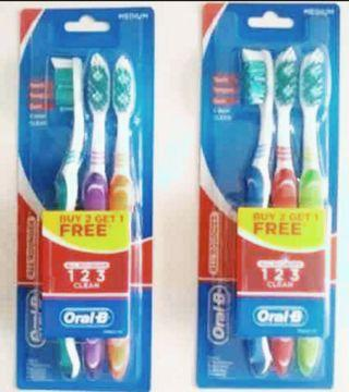 Oral B Toothbrush Buy 2 Get 1 Free Pack