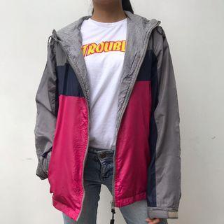 Gray pink sports jacket