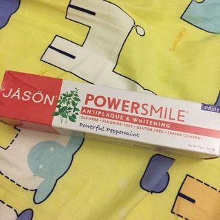 Jason antiplaque and whitening peppermint toothpaste 美白薄荷牙膏