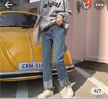反折牛仔褲