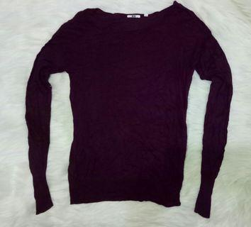 #CintaiBumi Uniqlo Wine Sweater