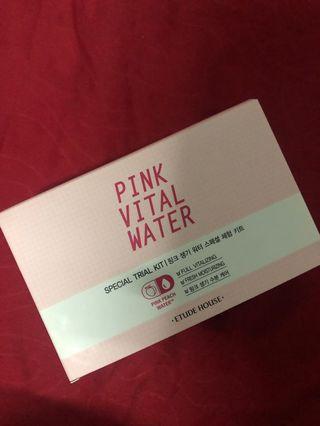 Etude house pink vital water miniature skin care set
