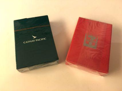 Cathay Pacific and 7-11 Playing Cards