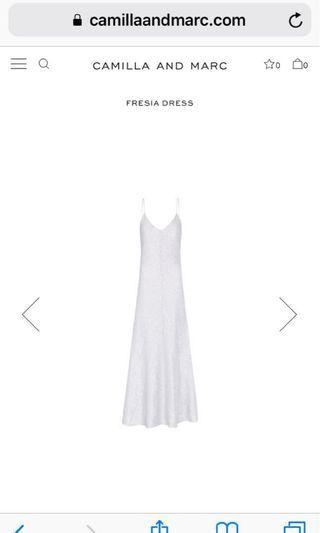 CAMILLA & MARC FRESIA SLIVER DRESS